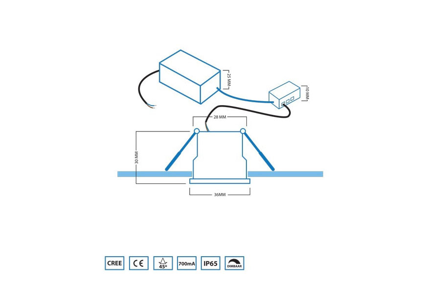 OS LED aansluiting